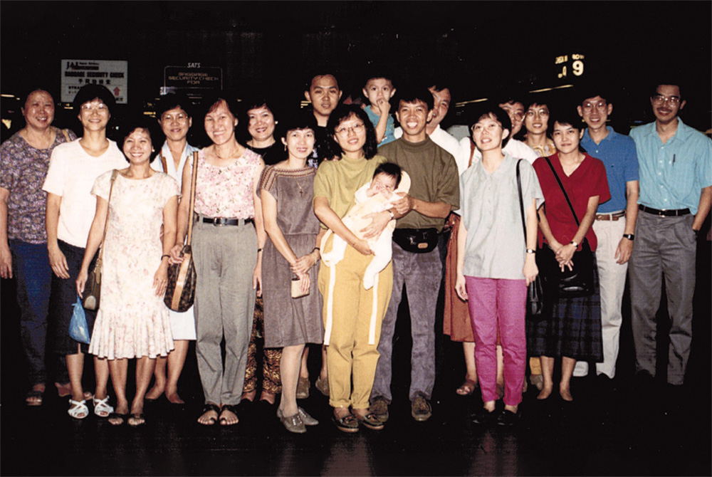 The Laus, our missionaries to Japan, left Singapore in 1992 (pictured here at the airport), and continue today to labour for Christ in Japan.