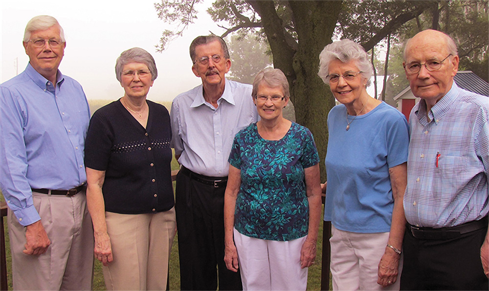 We owe a debt of love to EFCA missionaries who played a vital role in our early years. In this photo taken in 2012 (L-R): Allen & Darlene Tunberg, Richard & Pam Carlson, Muriel & Ben Sawatsky