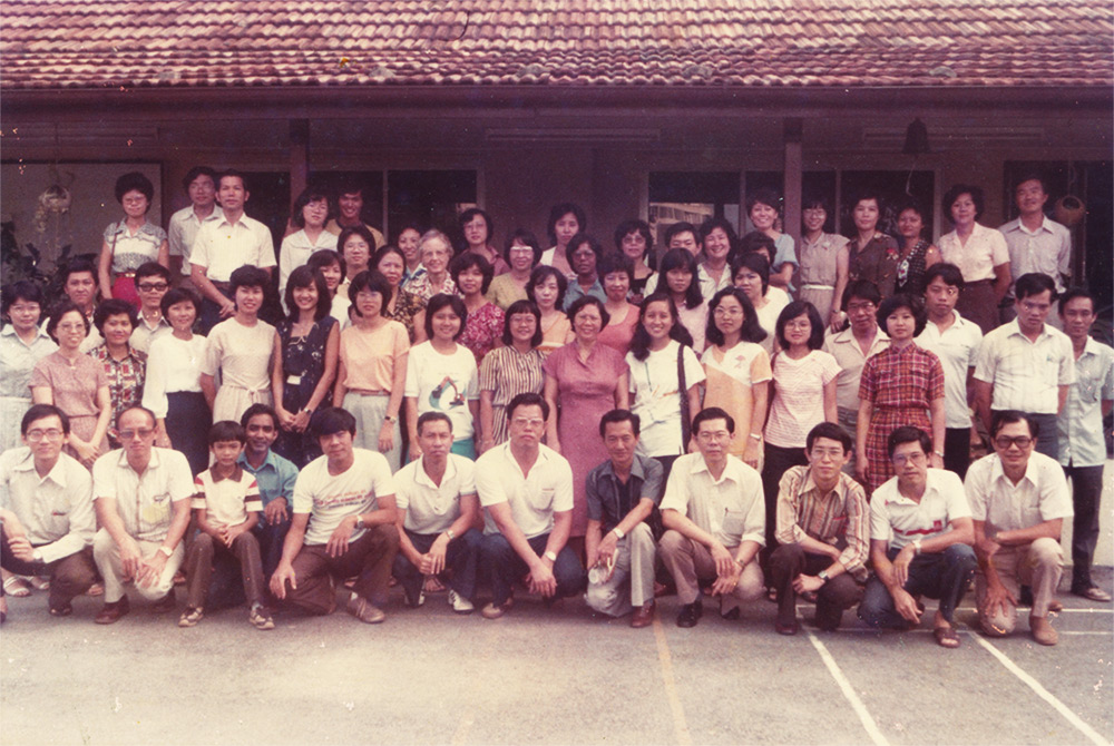 Some BTEFCers in the early 1980s, with Rev Lee (bottom row, rightmost)